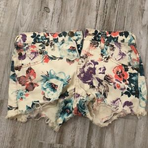 Free People floral shorts festival style boho